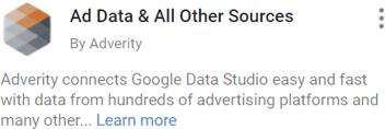 Select Adverity's data integration service