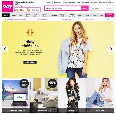 Very.co.uk marketing personalization using weather data