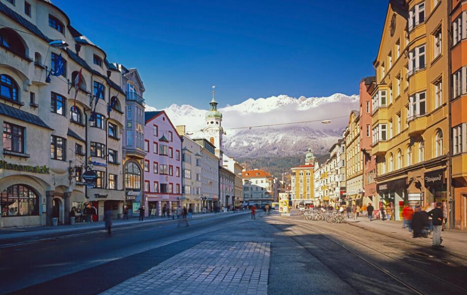 austrian snowy mountains